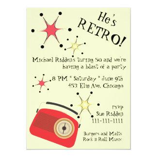 Retro Radio Birthday Invitation