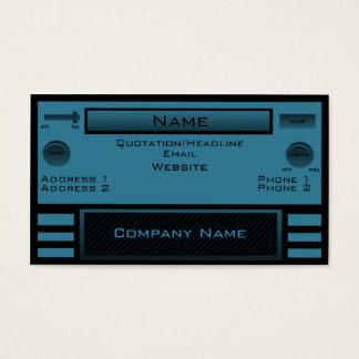 Retro Radio Business Card, Blue Business Card