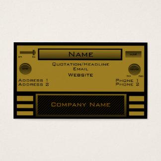 Retro Radio Business Card, Gold Business Card