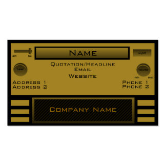 Retro Radio Business Card, Gold Business Card