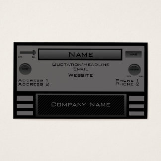Retro Radio Business Card, Gray Business Card