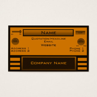 Retro Radio Business Card, Orange Business Card