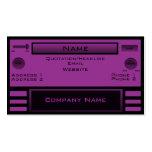 Retro Radio Business Card, Purple