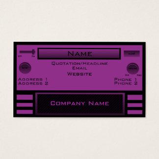 Retro Radio Business Card, Purple Business Card