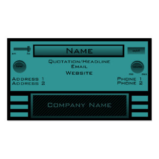 Retro Radio Business Card, Teal Business Card