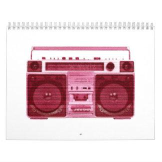 retro radio calendar