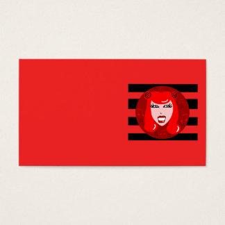 Retro Radio Girl Business Cards
