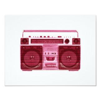 """retro radio invitation 4.25"""" x 5.5"""" invitation card"""