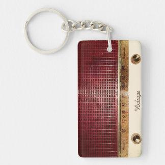 Retro radio Single-Sided rectangular acrylic keychain