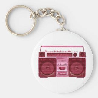 retro radio keychain
