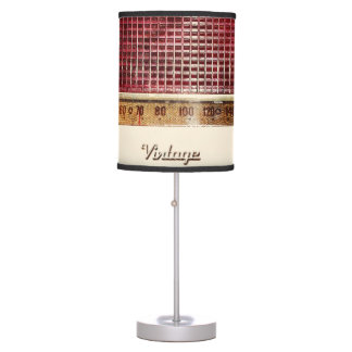 Retro radio table lamp