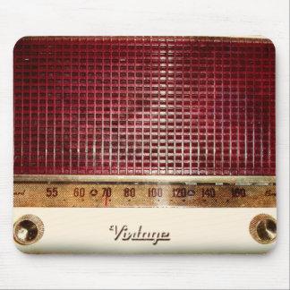 Retro radio mouse pad