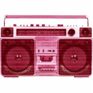 retro radio photo sculpture