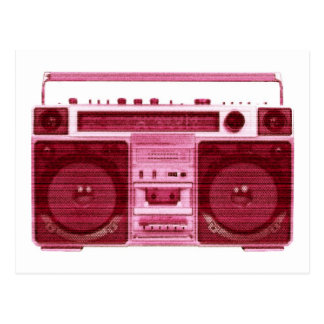 retro radio postcard