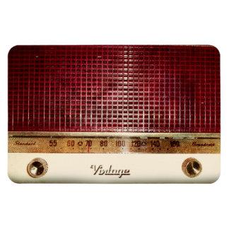 Retro radio rectangular photo magnet
