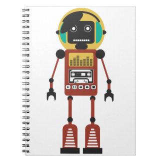 Retro Radio Robot Notebook