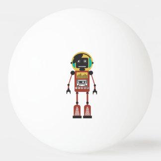 Retro Radio Robot Ping-Pong Ball