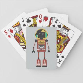 Retro Radio Robot Playing Cards