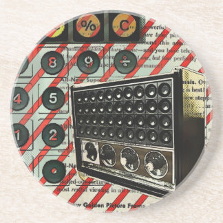 Retro Radio speaker Short Wave Radio Drink Coaster