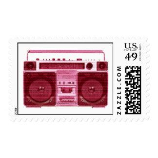 retro radio stamp
