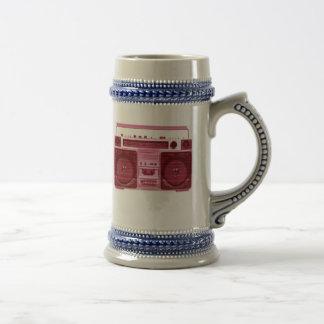 retro radio stein coffee mug