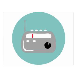 RETRO RADIO TRANSISTOR 1 POSTCARD