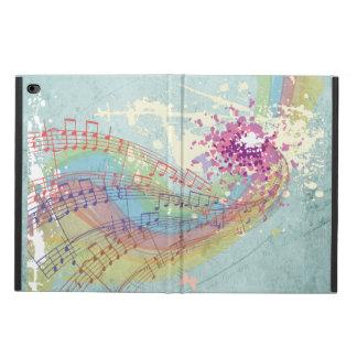 Retro Rainbow and Music Notes on a Shabby Texture Powis iPad Air 2 Case