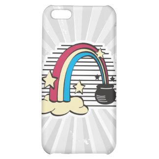 retro rainbow and pot o gold iPhone 5C cases