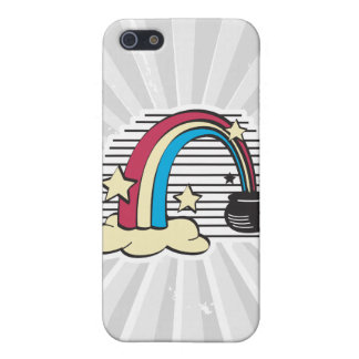 retro rainbow and pot o gold iPhone 5 covers