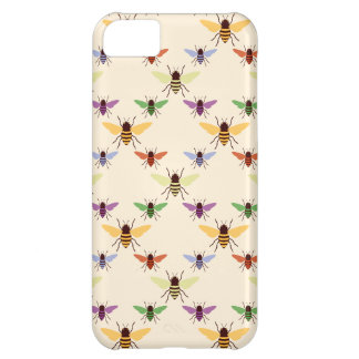 Retro rainbow bees bumblebees nature pattern iPhone 5C cover