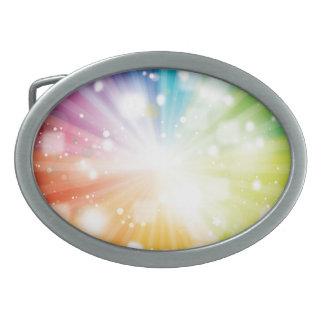 Retro Rainbow Belt Buckle Oval Belt Buckles