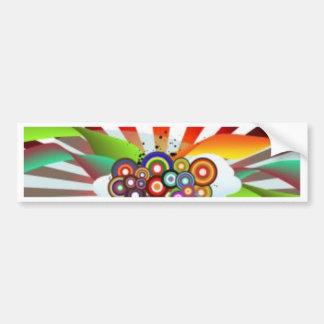 Retro Rainbow Bumper Sticker