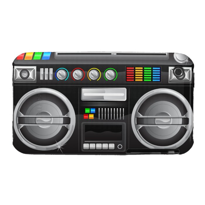 retro rainbow buttons boombox ghetto blaster iphone 3 case mate cases. Black Bedroom Furniture Sets. Home Design Ideas