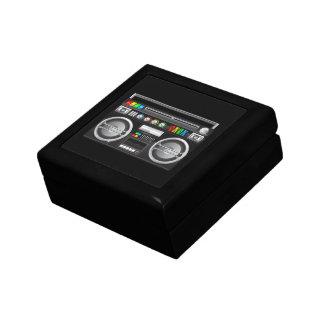 retro rainbow buttons boombox ghetto blaster gift boxes