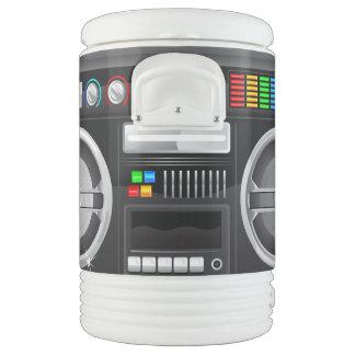 retro rainbow buttons boombox ghetto blaster igloo beverage dispenser