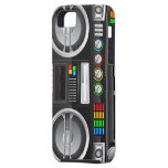 retro rainbow buttons boombox ghetto blaster iPhone 5 cover