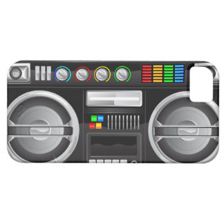 retro rainbow buttons boombox ghetto blaster iPhone SE/5/5s case
