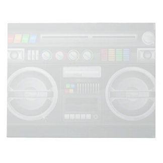 retro rainbow buttons boombox ghetto blaster memo pads