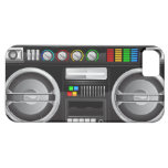 retro rainbow buttons boombox ghetto master iPhone 5 cases