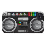 retro rainbow buttons boombox ghetto master iPhone 4 case