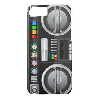retro rainbow buttons boombox ghetto master iPhone 8/7 case
