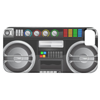 retro rainbow buttons boombox ghetto master iPhone SE/5/5s case