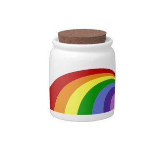 Retro Rainbow Candy Jar