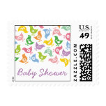 Retro Rainbow Chicks Baby Shower Stamps / Postage