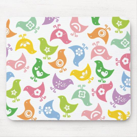 Retro Rainbow Chicks Fun Pattern Custom Mousepad