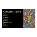 Retro Rainbow Circles Pattern Business Card