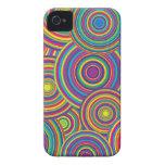 Retro Rainbow Circles Pattern Case-Mate iPhone 4 Case