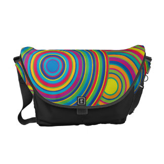 Retro Rainbow Circles Pattern Courier Bags