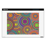 Retro Rainbow Circles Pattern Decals For Laptops