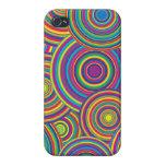 Retro Rainbow Circles Pattern iPhone 4/4S Case